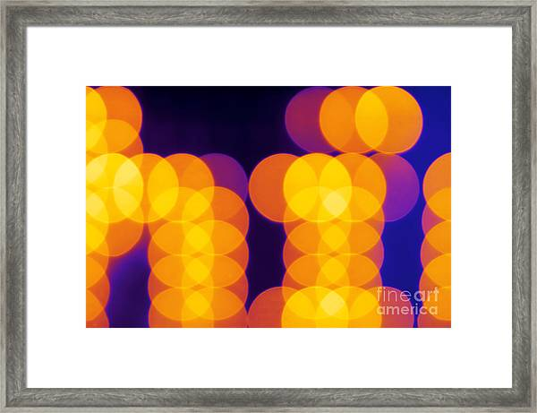Abstract Lights Framed Print