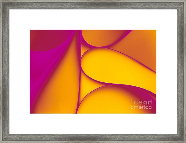Abstract Paper Background Framed Print