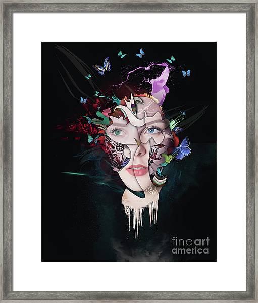 Abstract Portrait Number Seventeen Framed Print