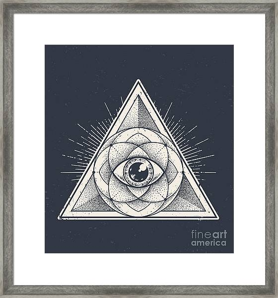 Abstract Sacred Geometry. Geometric Framed Print