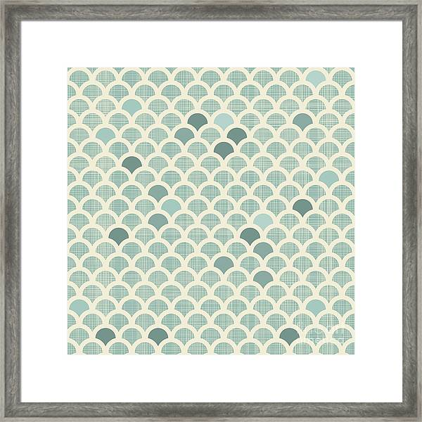 Abstract Scales Seamless Background Framed Print by Anastasiia Kucherenko