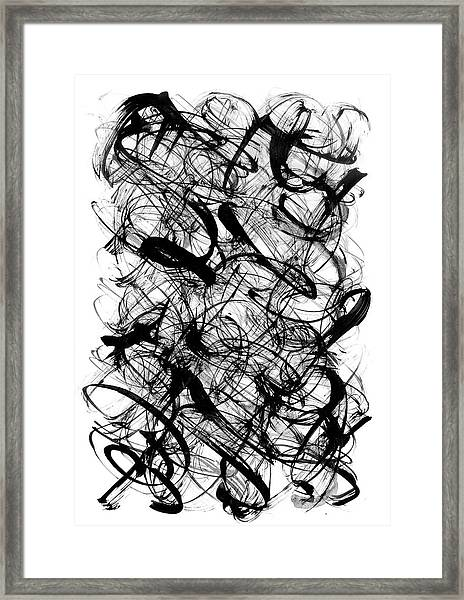 Abstract Script Framed Print