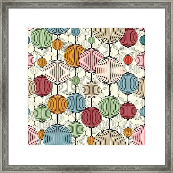 Abstract Seamless Pattern,  Background Framed Print