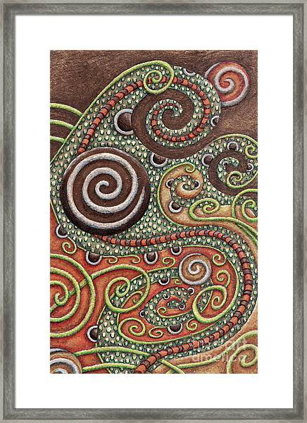 Abstract Spiral 10 Framed Print