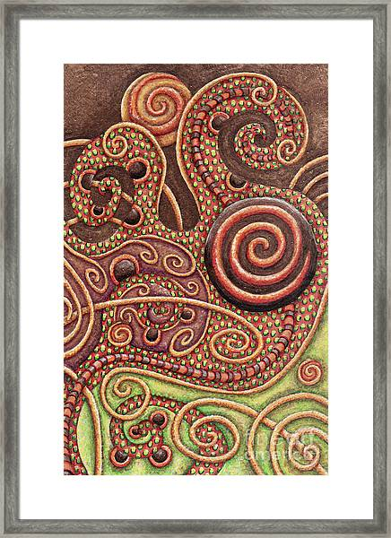 Abstract Spiral 11 Framed Print