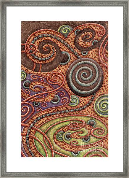 Abstract Spiral 5 Framed Print