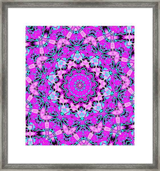 Abstract Spun Flower Framed Print