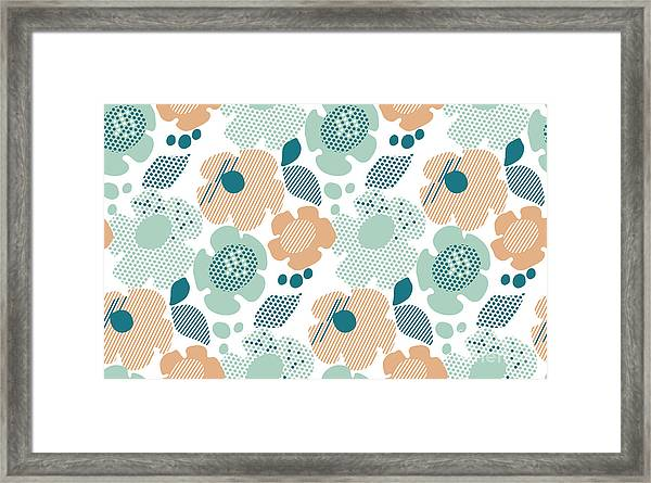 Abstract Stylized Floral. Abstract Pale Framed Print