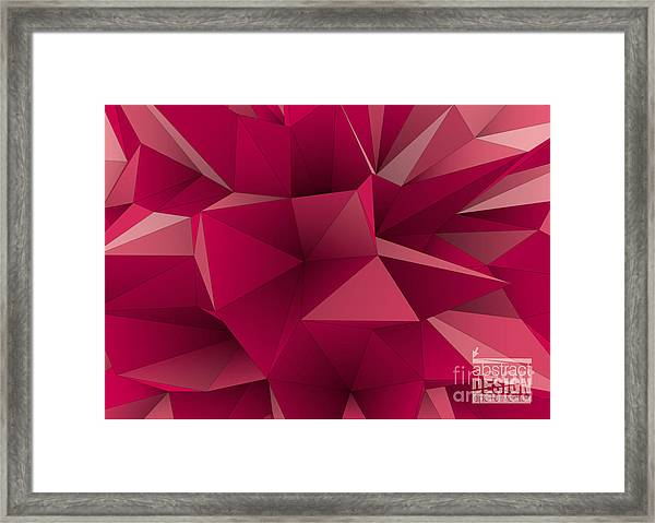 Abstract Triangular  Crystalline Framed Print