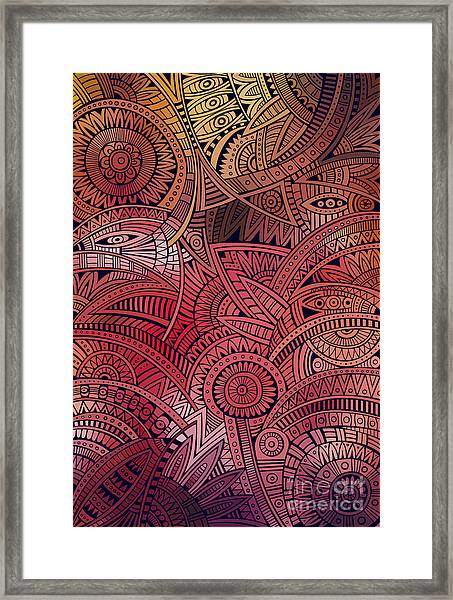 Abstract Vector Tribal Ethnic Framed Print