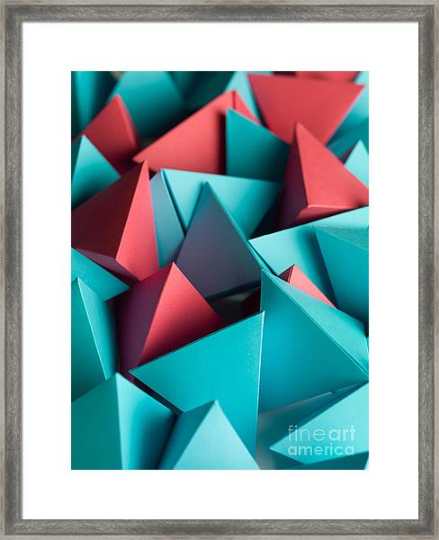 Abstract Wallpaper Consisting Of Framed Print by Comaniciu Dan