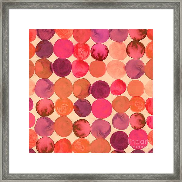 Abstract Watercolored Geometric Circles Framed Print