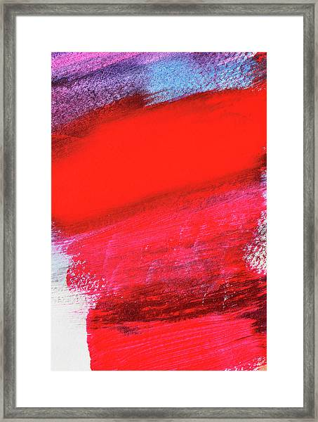Abstract Watercolour And Acrylic Framed Print