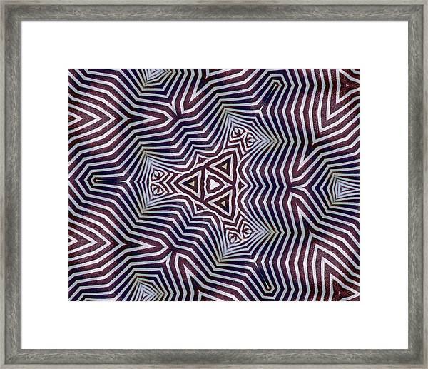 Abstract Zebra Design Framed Print