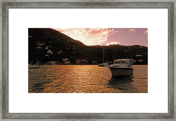 Abstractions Of Coral Bay Framed Print