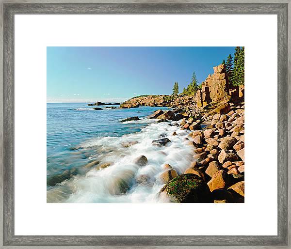 Acadia National Parks Rocky Atlantic Framed Print