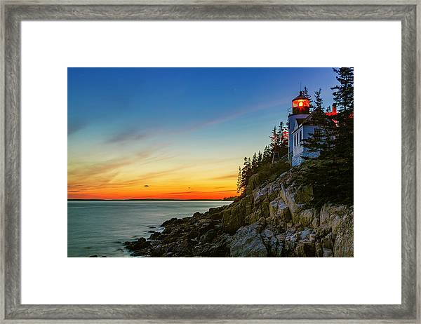 Acadia Sunset Framed Print