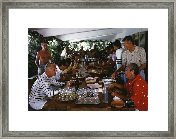 Acapulco Lunch Framed Print