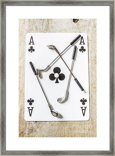 Ace Of Clubs Framed Print