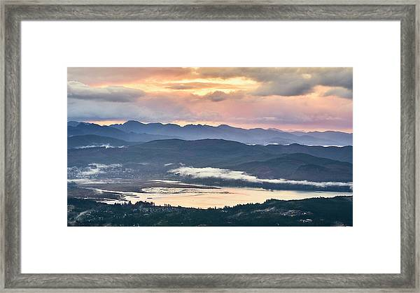 Framed Print featuring the photograph Across The Bay by Whitney Goodey