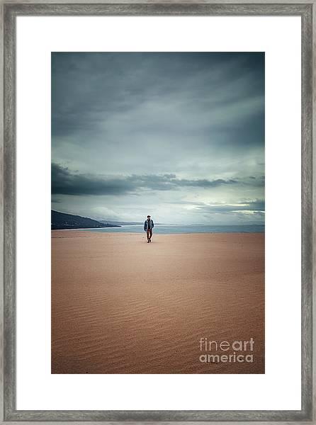 Across The Sands Of Time Framed Print