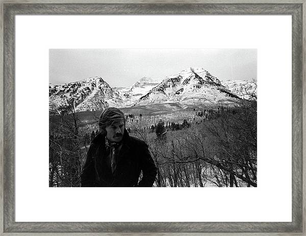 Actor Robert Redford On His Property In Framed Print