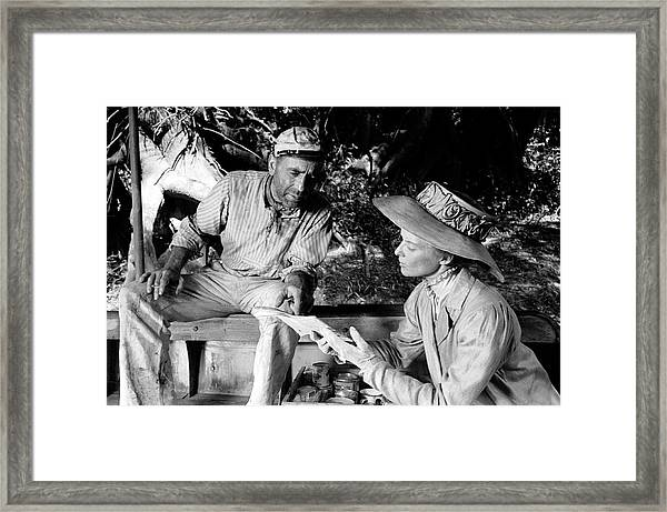 Actors Humphrey Bogart & Katherine Framed Print