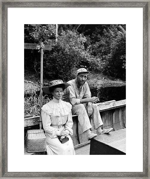 Actors Katherine Hepburn & Humphrey Framed Print