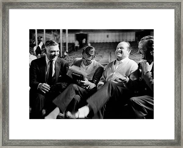 Actors L-r Clark Gable Cary Grant Bob Framed Print