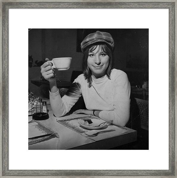 Actress And Singer Barbra Streisand Framed Print