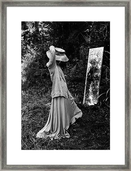 Actress Katharine Hepburn, In Costume Framed Print