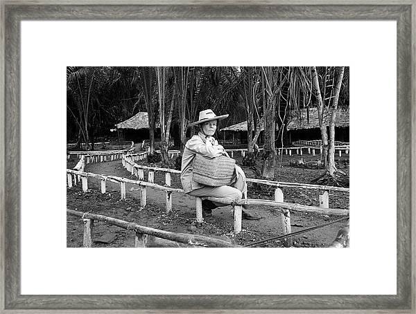 Actress Katharine Hepburn Posing For Framed Print