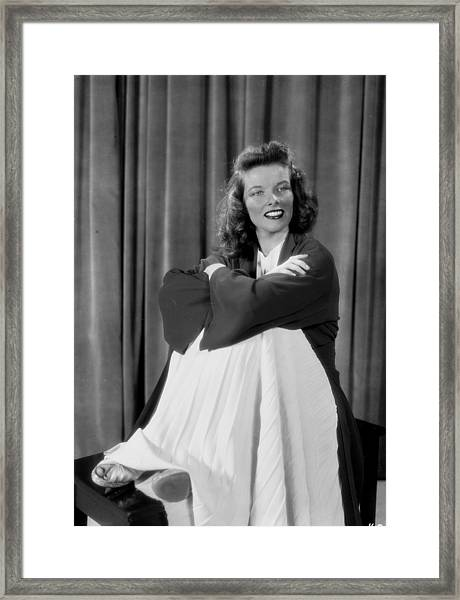 Actress Katherine Hepburn Framed Print