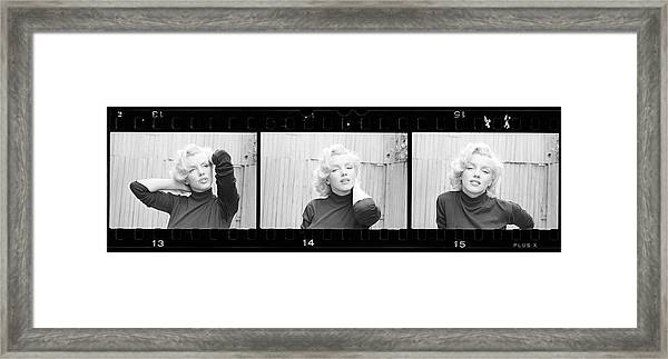 Actress Marilyn Monroe Framed Print