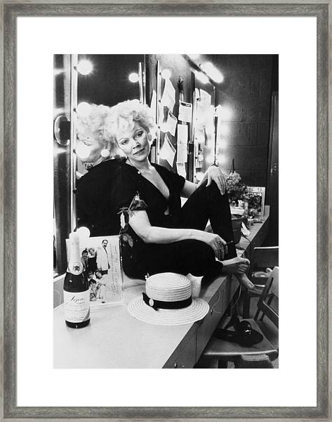Actress Susan Tyrrell Relaxes In Her Framed Print