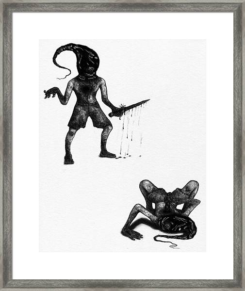 Adriano The Darkstalker - Artwork Framed Print