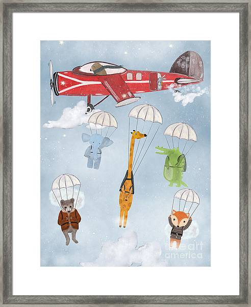 Adventure Skies Framed Print by Bri Buckley