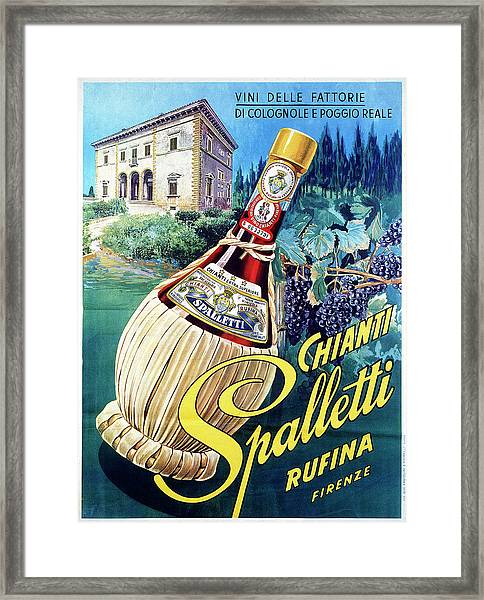 Advertising Poster Of Spalletti Chianti Framed Print