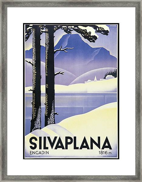 Advertising Poster Silvaplana, By Framed Print
