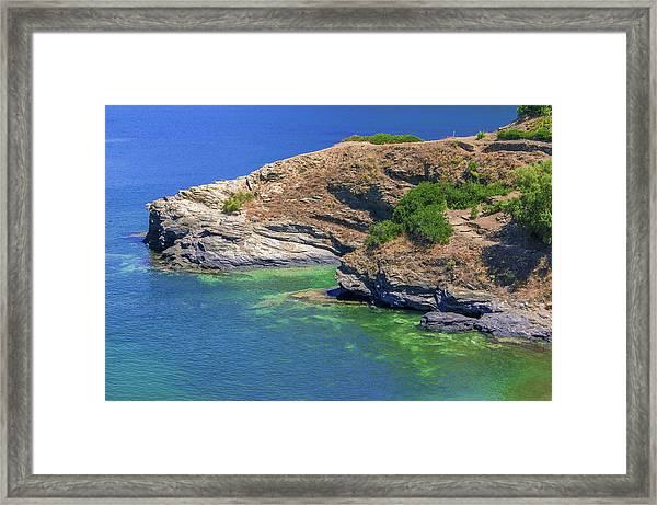 Aegean Coast In Bali Framed Print