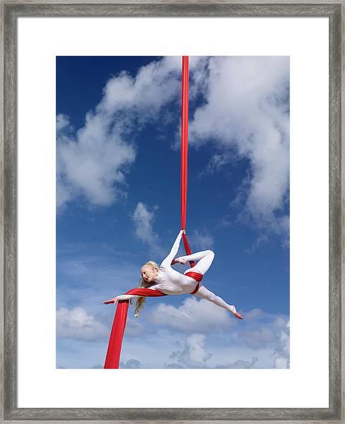 Aerial Gymnast Framed Print