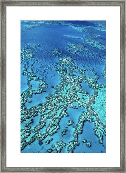 Aerial Of Hardy Reef Offshore From Framed Print by Travelgame