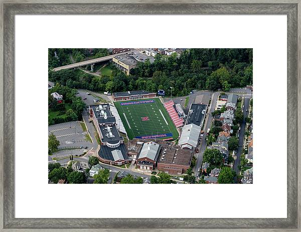 Aerial Of Mhs Football Field And School Framed Print