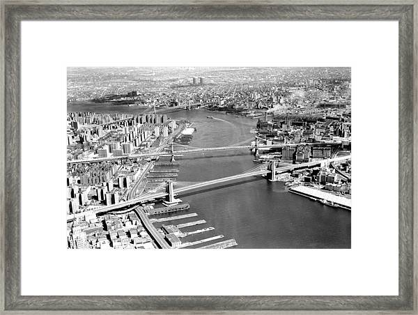 Aerial Of The Bottom To Top Brooklyn Framed Print