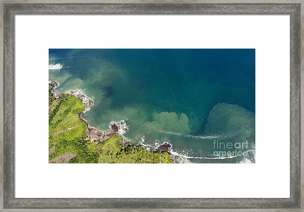 Aerial Photo From Flying Drone Of Framed Print