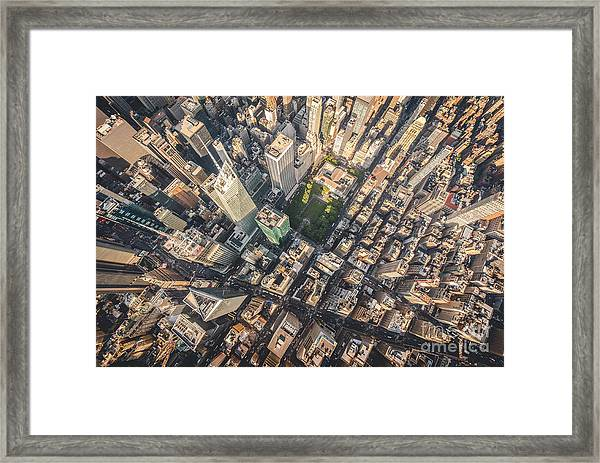 Aerial Photograph Taken From A Framed Print