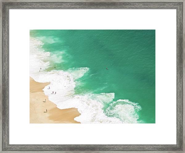 Aerial View Of Beach Framed Print