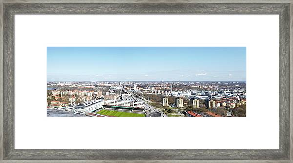 Aerial View Of Stadium Framed Print by Johner Images
