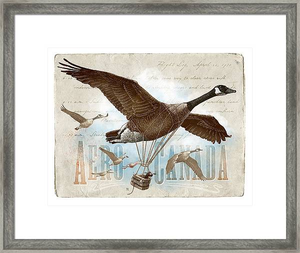 Framed Print featuring the drawing Aero Canada by Clint Hansen
