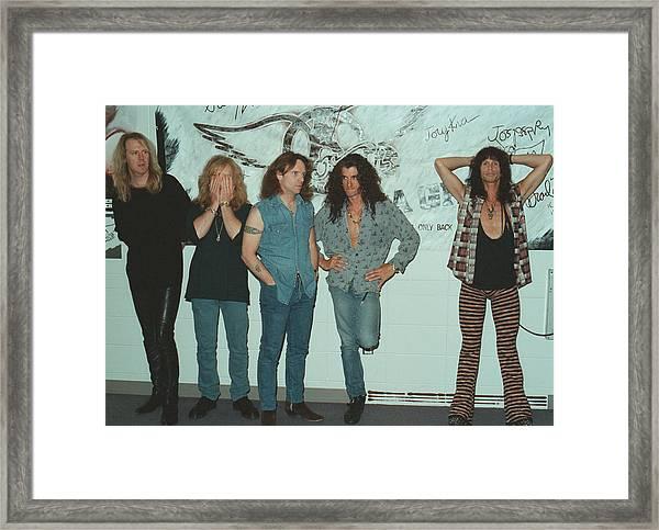 Aerosmith Backstage Portrait Framed Print